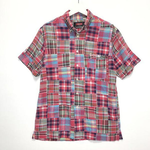 [M] Futura Laboratories Patchwork S/S Shirt Red