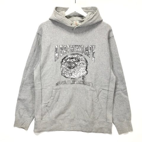[M] A Bathing Ape Bape Vintage 'Cash Money' Bling Logo Hoodie Grey