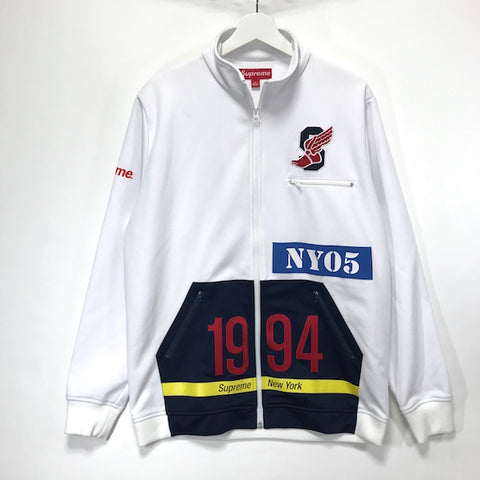 [XL] Supreme 'Polo S Wing' 2005 Track Jacket White