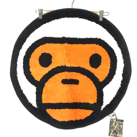DS! A Bathing Ape Bape Baby Milo Face Rug White