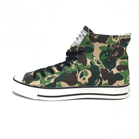 [10] DS! A Bathing Ape x Stussy Bape Sta 'Chuck Taylor' Hi Top Shoes