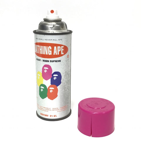 A Bathing Ape Bape x Stash Vintage 'Krylon' Spray Can (Pink Cap/Cracked)