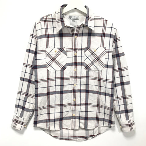 [S] Visvim Black Elk Giza Check Flannel L/S Shirt White