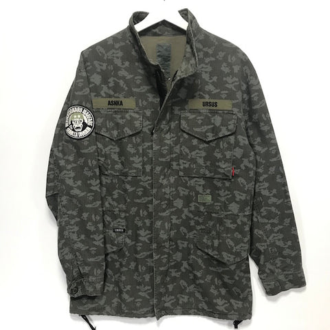 [L] A Bathing Ape Ursus Bape x WTaps Bapexclusive Limited Digicamo M-65 Jacket
