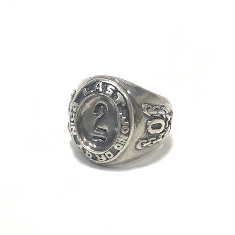 A Bathing Ape Bape Vintage 90's Last Orgy 2  Silver College Ring
