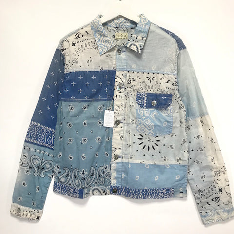 [M or L] Kapital Kountry Vintage Bandana Patchwork Shirt Jacket Blue