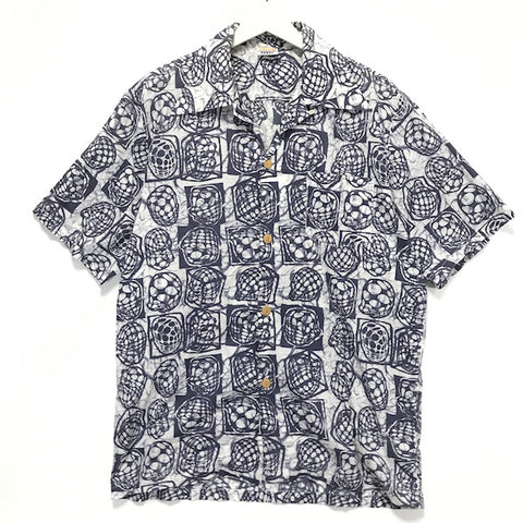 [L/XL] A Bathing Ape Bape Hawaii 3D Heads Aloha Shirt