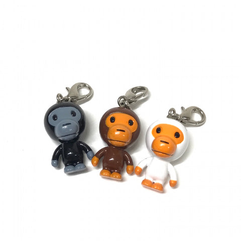 DS! A Bathing Ape Bape Baby Milo 3-Piece Keychain Set