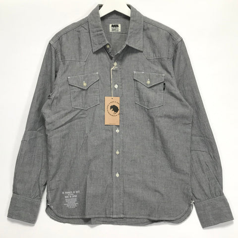 [L] Rats Western Chambray L/S Shirt Grey
