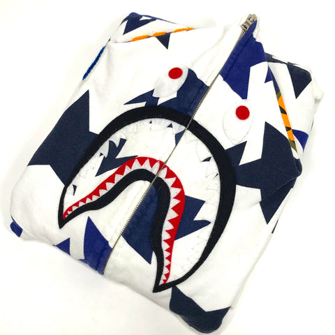 [XL] A Bathing Ape Bape Sta Shark Hoodie White/Navy