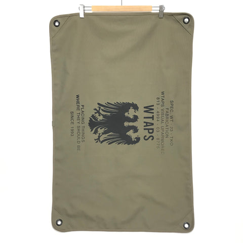 WTAPS CANVAS BANNER OLIVE