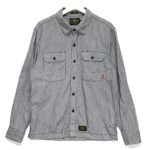 [L] WTAPS Vatos 03 Hickory Stripe L/S Shirt
