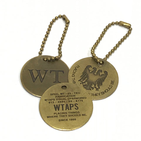 WTAPS WHO DARES WINS BRASS KEYCHAIN SET