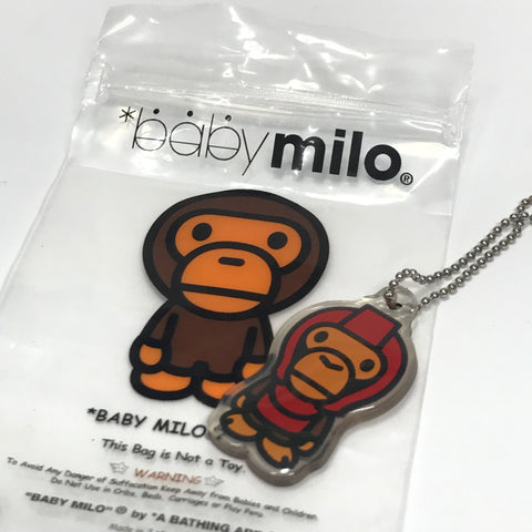 DS! A Bathing Ape Bape Baby Milo Vintage PVC Keychain Red
