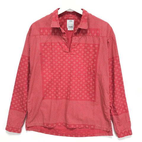 [S] Visvim Kerchief Dot Tunic Shirt Red