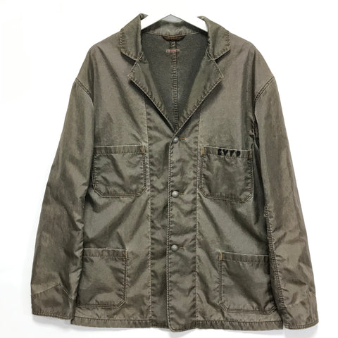 [XL] Kapital Super Nylon Overdye CVFD 3 Button Jacket Olive