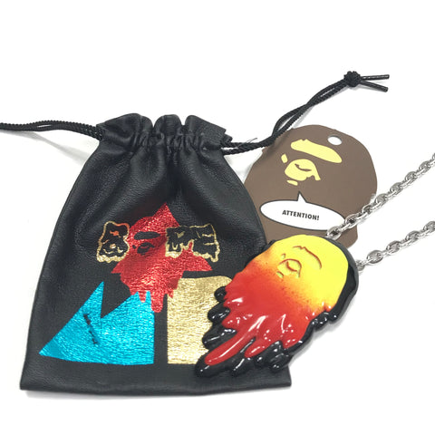 A Bathing Ape Bape x Ambush Melting Necklace Red/Yellow