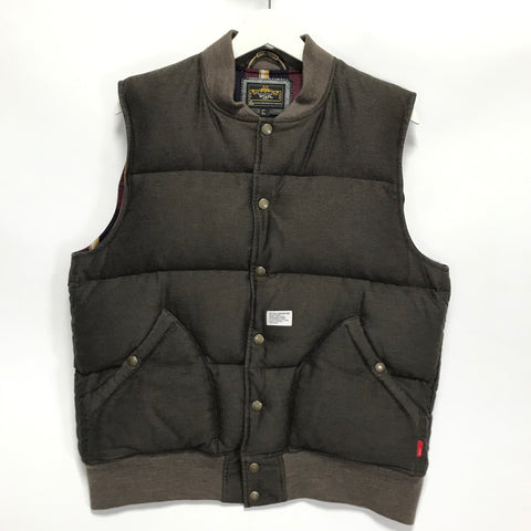[L] WTaps Rokudenashi Packers Down Vest Brown