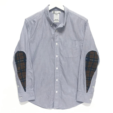[S] Visvim Albacore Check Oxford Shirt Giza Lt Blue