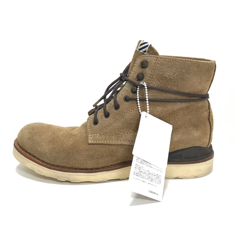 [8.5] Visvim Virgil Boots Folk Suede Lt Brown