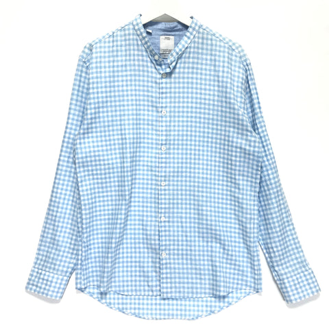 [L] Visvim Ingall Band Collar L/S Shirt IT (Italy) Blue