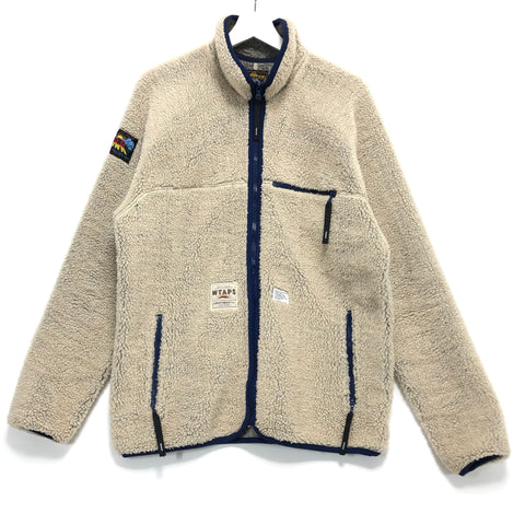[L] WTaps Red Dawn 08AW Polar Fleece Zip Up Jacket Beige