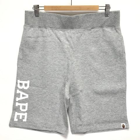 [L or XL] DS! A Bathing Ape Bape Sweat Shorts Grey