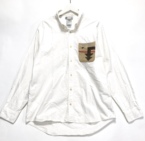 [XL] Visvim 16AW V+V Native Blanket Pocket Shirt L/S Giza White