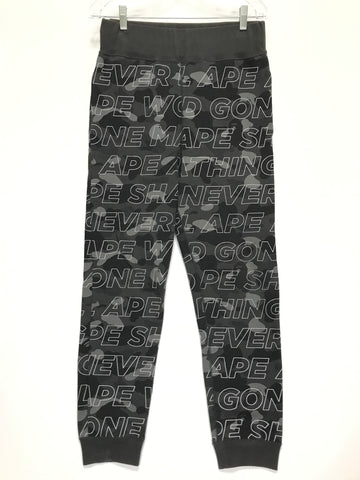 [S] A Bathing Ape Bape Text Camo Sweat Pants