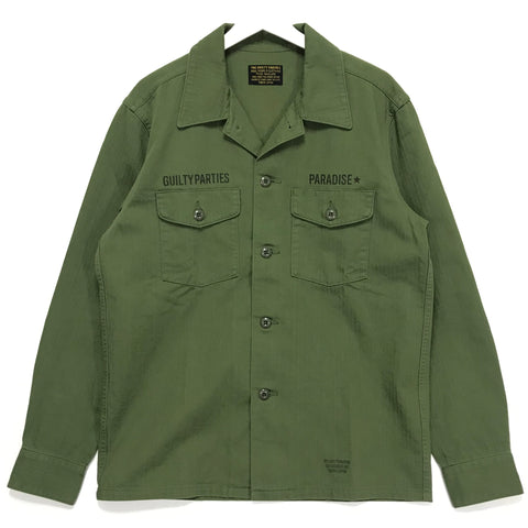 [XL]  Wacko Maria Guilty Parties Paradise Herringbone Cotton BDU Shirt