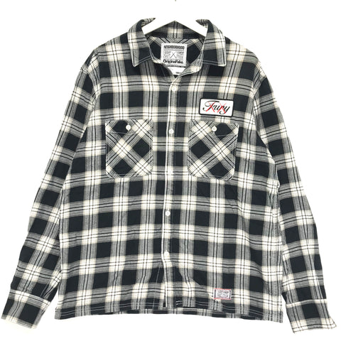 [XL] Neighborhood x Original Fake ( Kaws ) SS09 Logger Flannel L/S Shirt