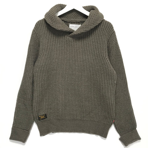 [L] WTaps AW13 Shawl Knit Wool Sweater