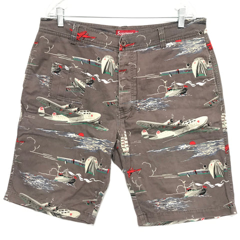 [36] Supreme Airplane Shorts Grey
