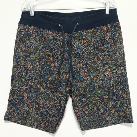 [M] Supreme Paisley Sweat Shorts Navy