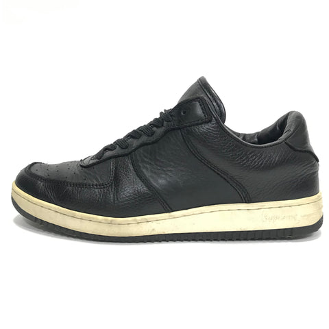 [10] Supreme Vintage Downlow Leather Shoes Black