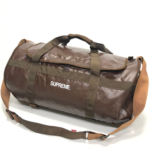 Supreme Vintage Vinyl Duffle Bag Brown