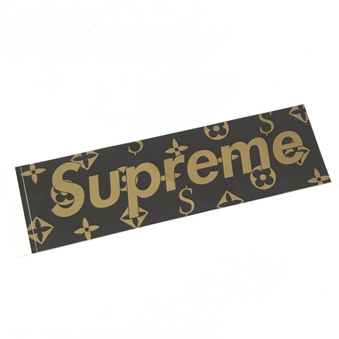 Supreme Vintage LV Monogram Cease and Desist Box Logo Sticker Brown