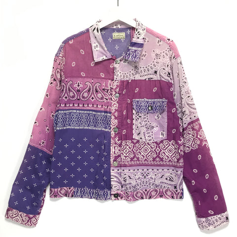 [2XL] Kapital Kountry Vintage Bandana Jacket Shirt Purple
