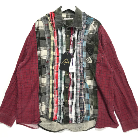 [XL/2XL]  DS! Needles Rebuild Ribbon Cut Flannel Shirt