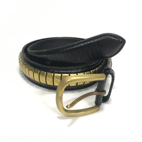 Rats x Undercover Leather / Brass Studded Belt