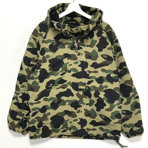 [M] A Bathing Ape Bape Vintage 1st Camo Fleece Lined Pullover Hooded Jacket