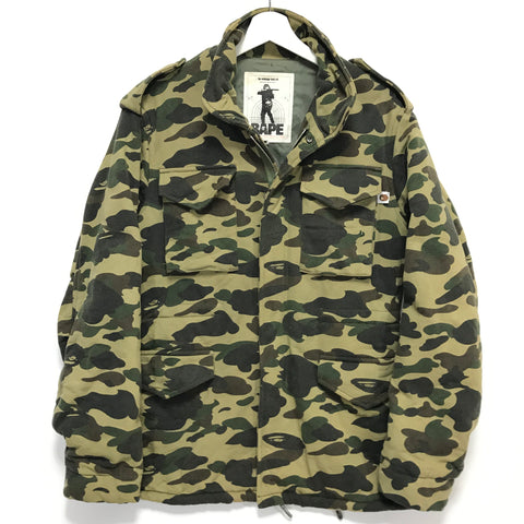 [M] A Bathing Ape Bape Vintage 1st Camo M-65 Jacket Green