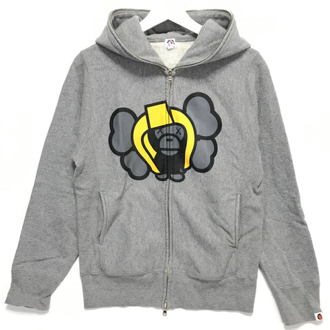 [TALL] Women's! A Bathing Ape Bape Baby Milo x Kaws Full Zip Hoodie