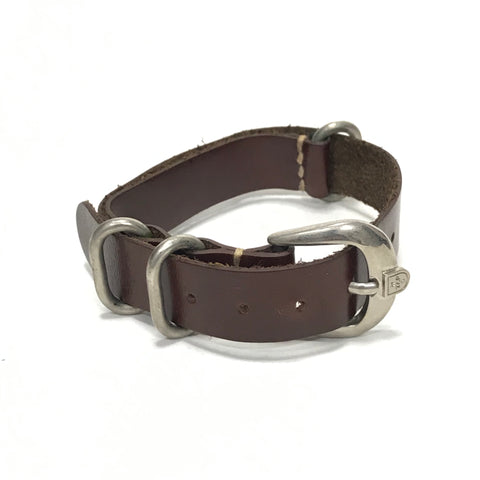 WTaps 12SS Leather Slave Bracelet (NATO/Zulu Watch Strap) Brown