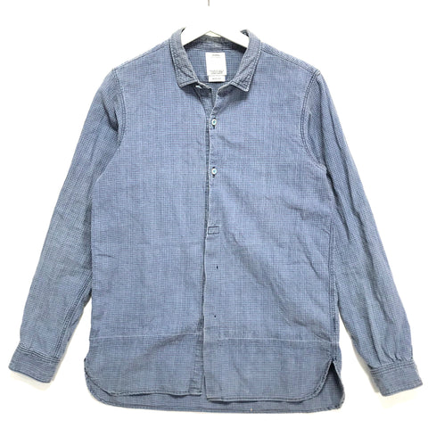 [S] Visvim 14SS Long Rider Indigo Check L/S Shirt Cotton / Linen