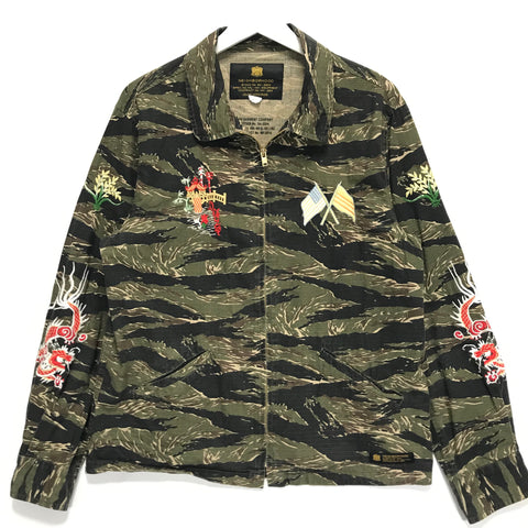 [L] Neighborhood 16SS Souvenir Tiger Camo Ripstop Cotton Jacket
