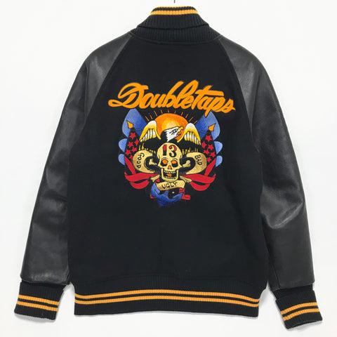 [L] WTaps Philosophy Store Limited 'Good Bad Ugly' Varsity Jacket Black