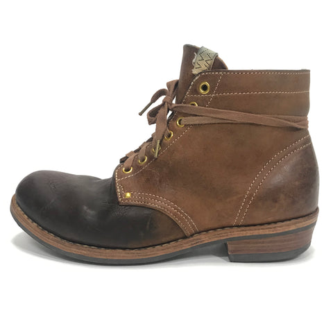 [10] Visvim 18AW Brigadier Boots Mid Folk Leather Brown