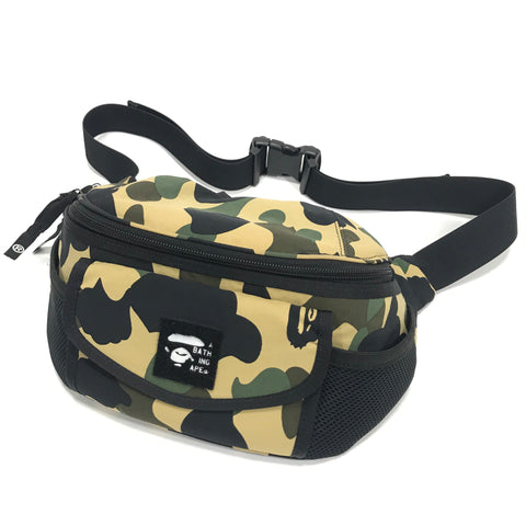 A Bathing Ape Bape 1st Camo Waist / Shoulder Bag Yellow