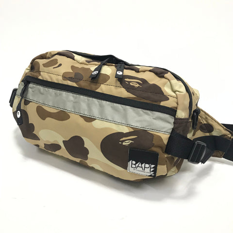 A Bathing Ape Bape Vintage Color Camo Waist / Shoulder Bag Brown